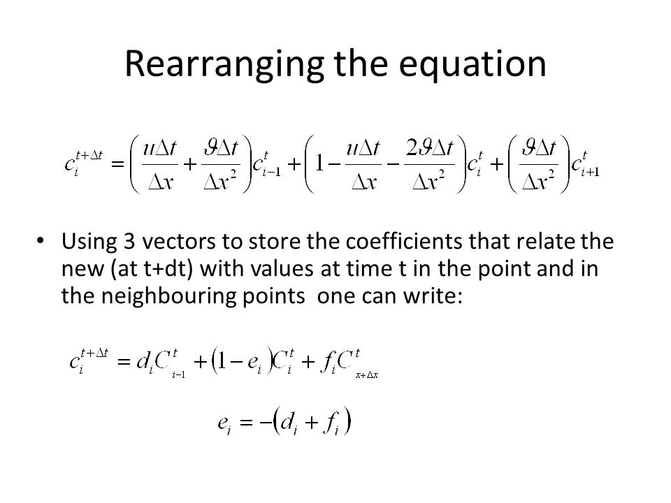 Rearranging the equation