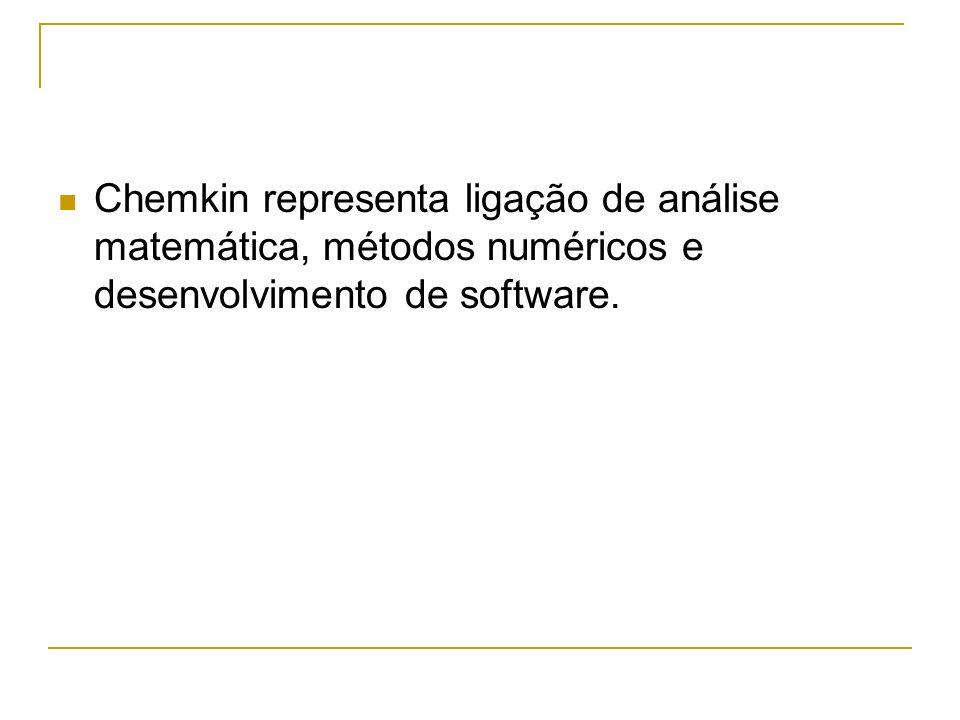 Chemkin representa ligação de análise matemática, métodos numéricos e desenvolvimento de software.