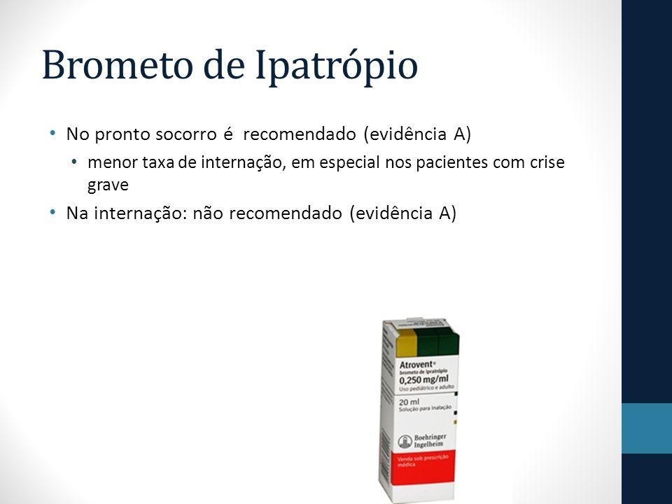 Brometo de Ipatrópio No pronto socorro é recomendado (evidência A)