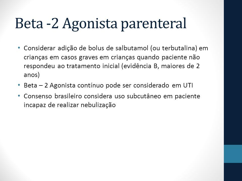 Beta -2 Agonista parenteral