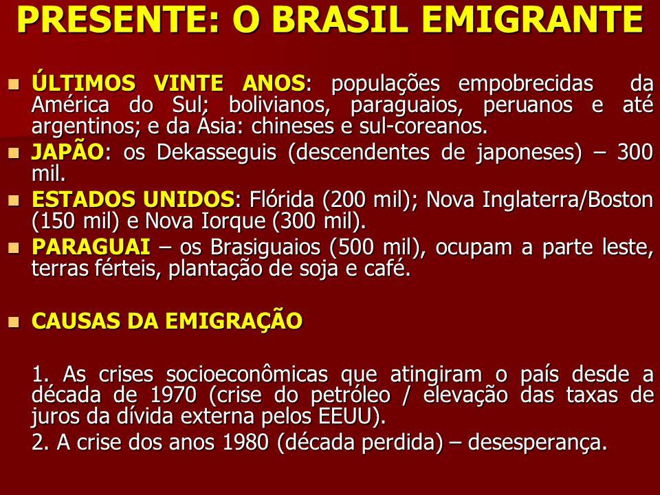 PRESENTE: O BRASIL EMIGRANTE