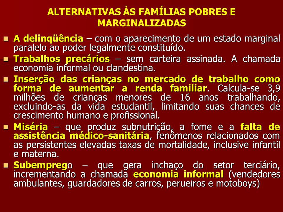ALTERNATIVAS ÀS FAMÍLIAS POBRES E MARGINALIZADAS