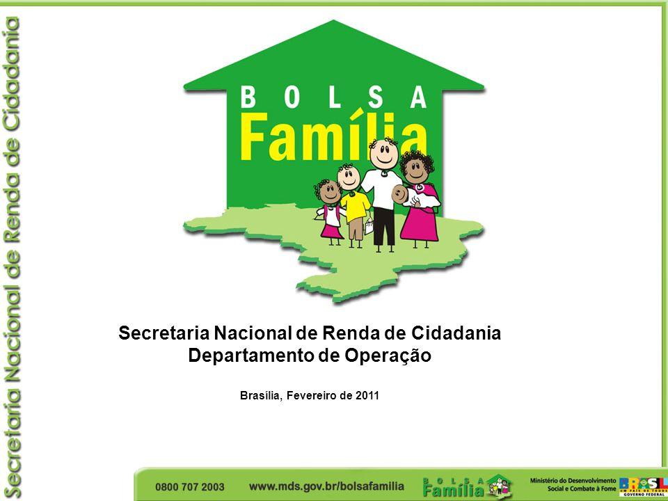 Secretaria Nacional de Renda de Cidadania Departamento de Operação