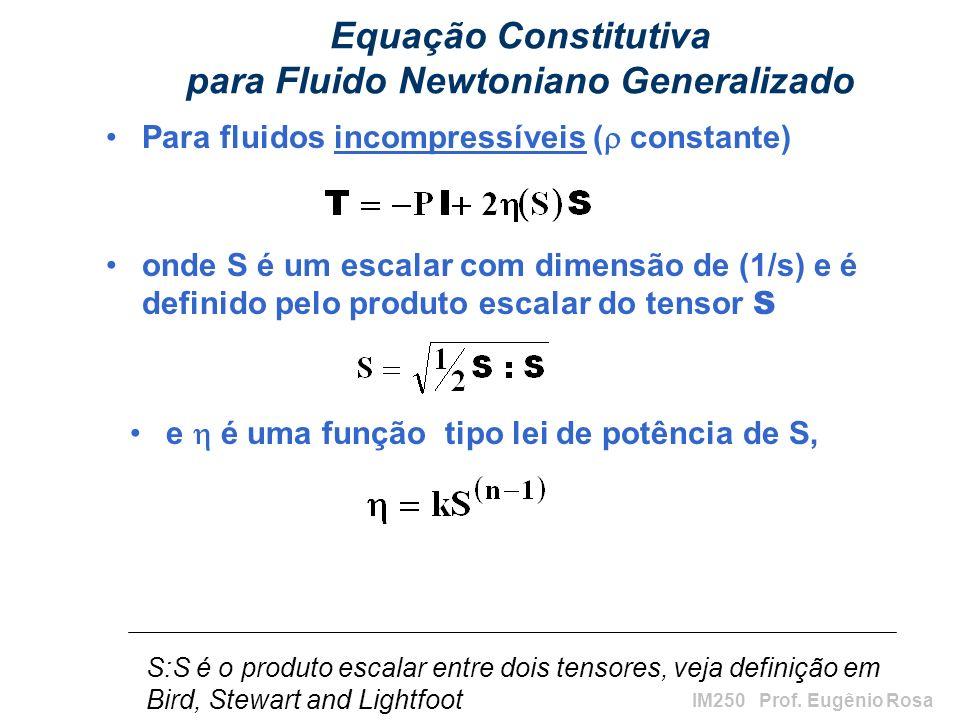 Equação Constitutiva para Fluido Newtoniano Generalizado