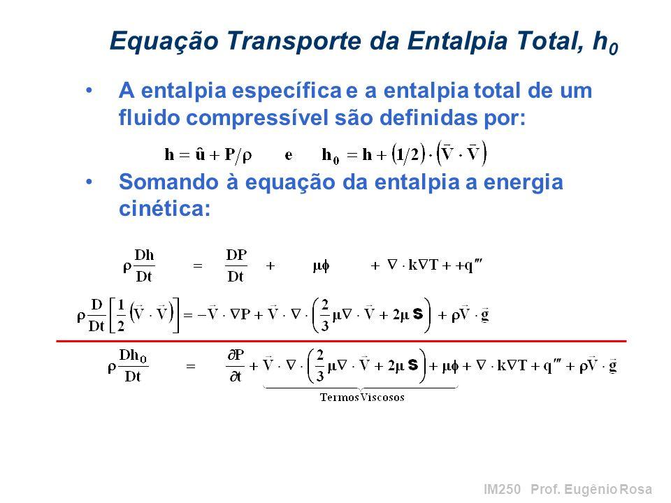 Equação Transporte da Entalpia Total, h0