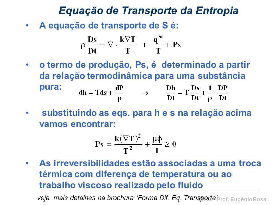 Equação de Transporte da Entropia