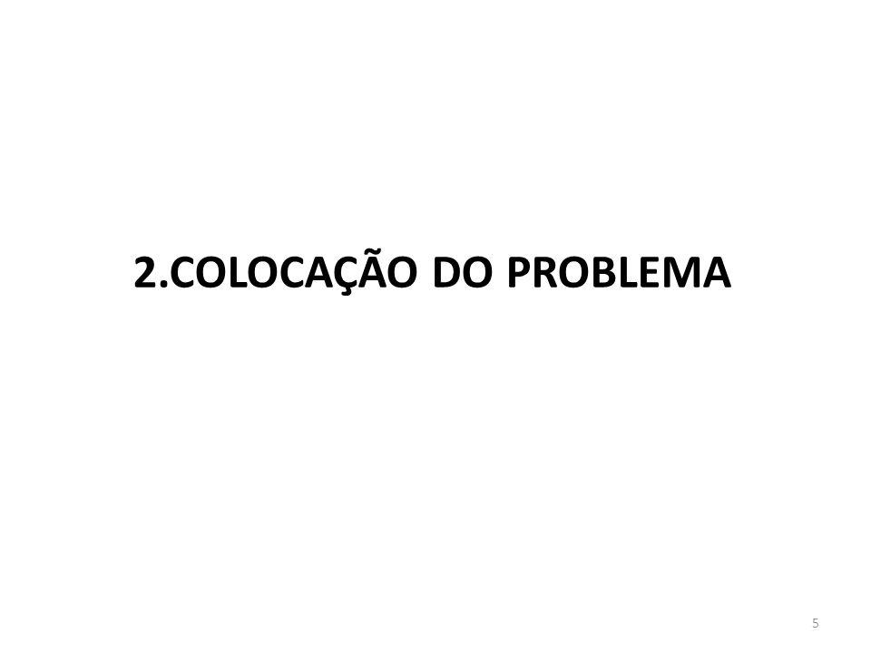 2.COLOCAÇÃO DO PROBLEMA
