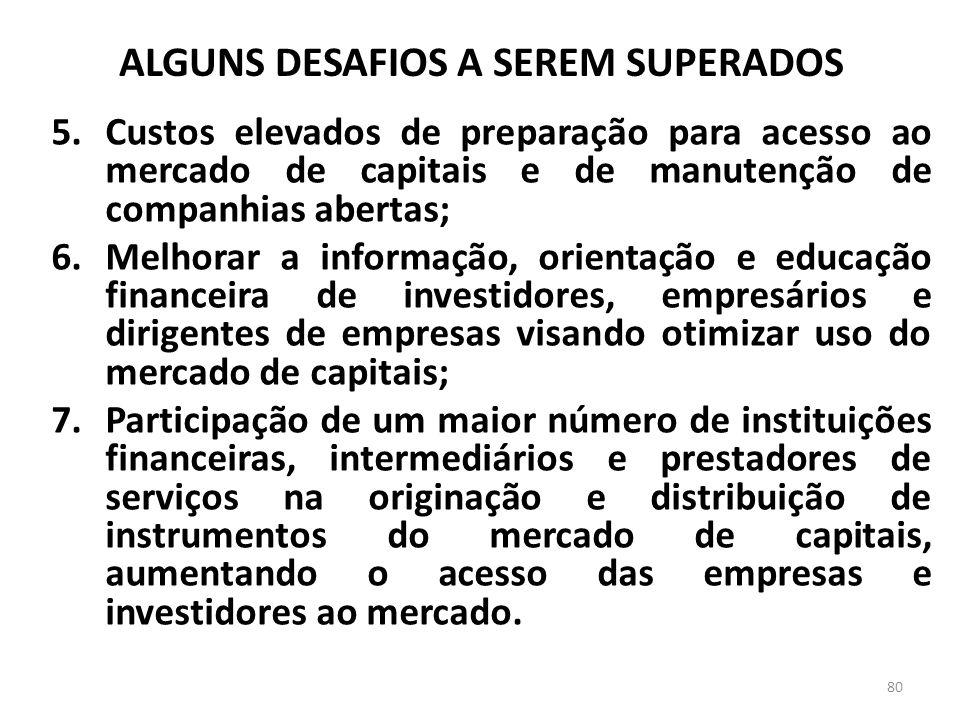 ALGUNS DESAFIOS A SEREM SUPERADOS