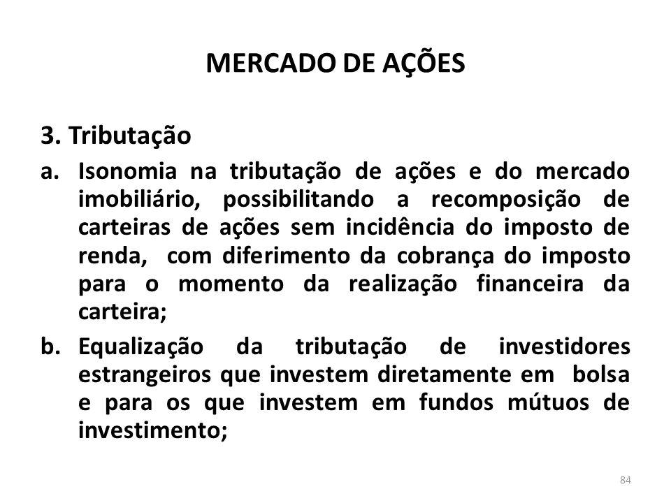 MERCADO DE AÇÕES 3. Tributação