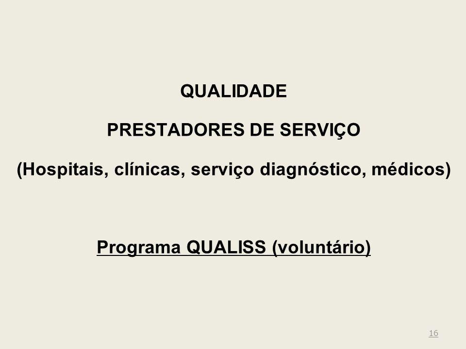 QUALIDADE PRESTADORES DE SERVIÇO