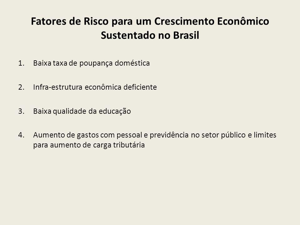 Fatores de Risco para um Crescimento Econômico Sustentado no Brasil