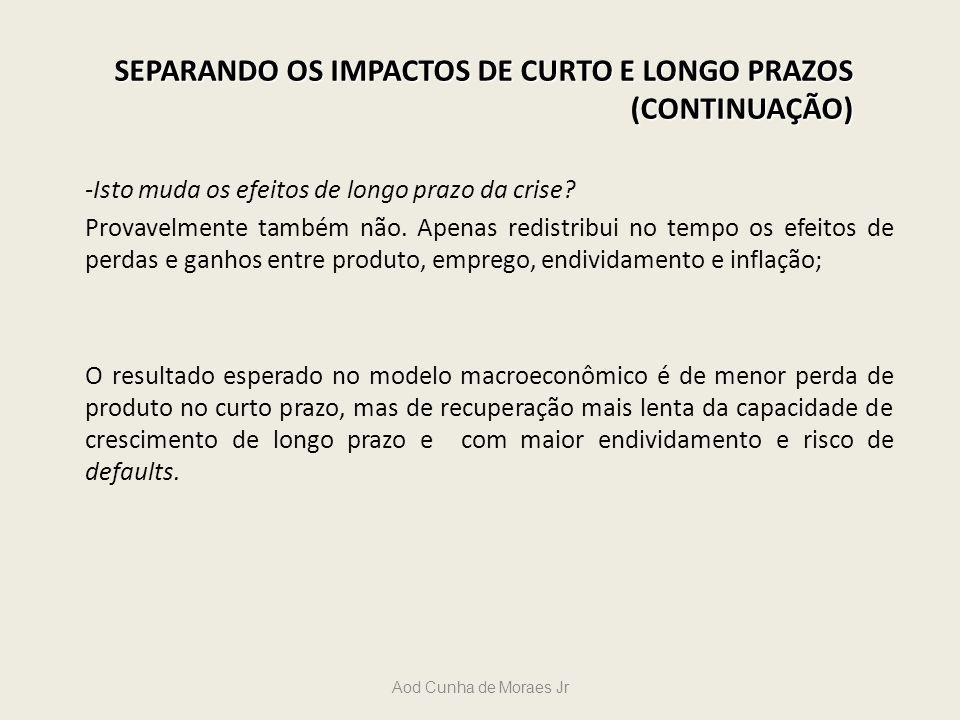 SEPARANDO OS IMPACTOS DE CURTO E LONGO PRAZOS (CONTINUAÇÃO)