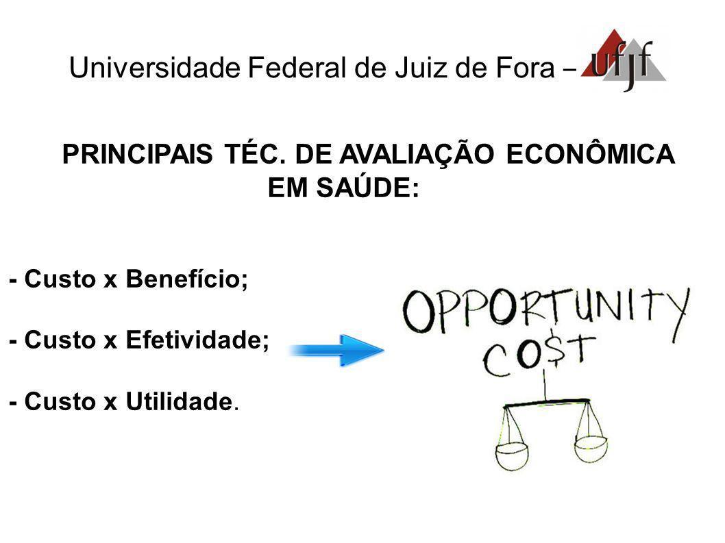 PRINCIPAIS TÉC. DE AVALIAÇÃO ECONÔMICA