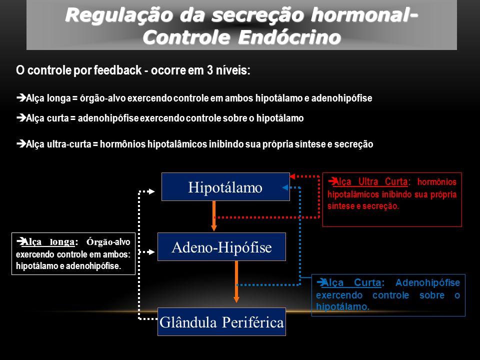 Regulação da secreção hormonal-Controle Endócrino