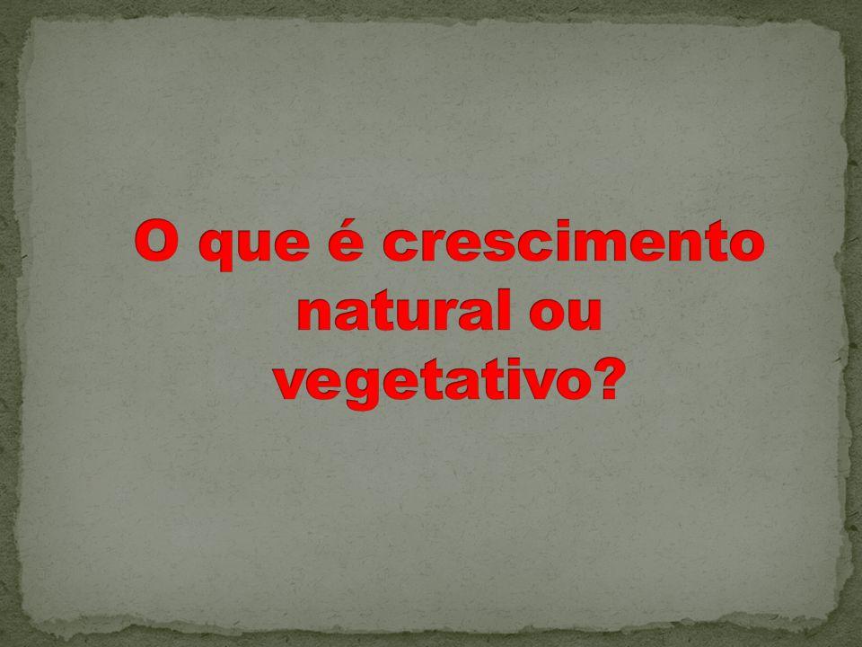 O que é crescimento natural ou vegetativo