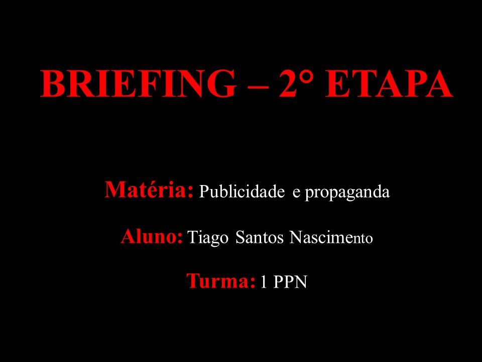 BRIEFING – 2° ETAPA Matéria: Publicidade e propaganda