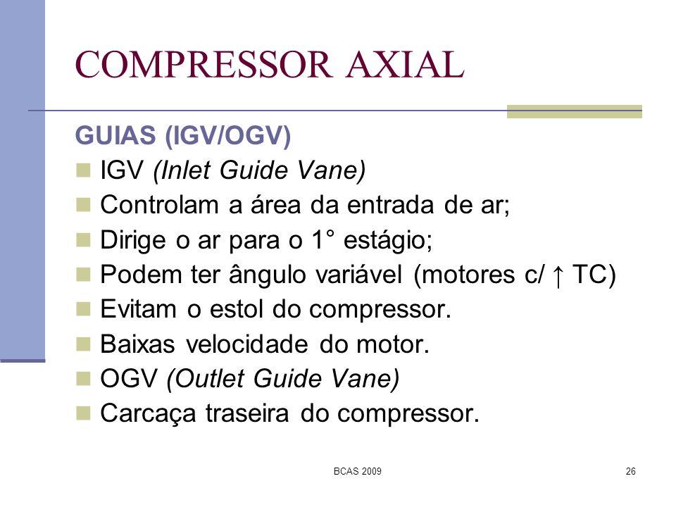 COMPRESSOR AXIAL GUIAS (IGV/OGV) IGV (Inlet Guide Vane)