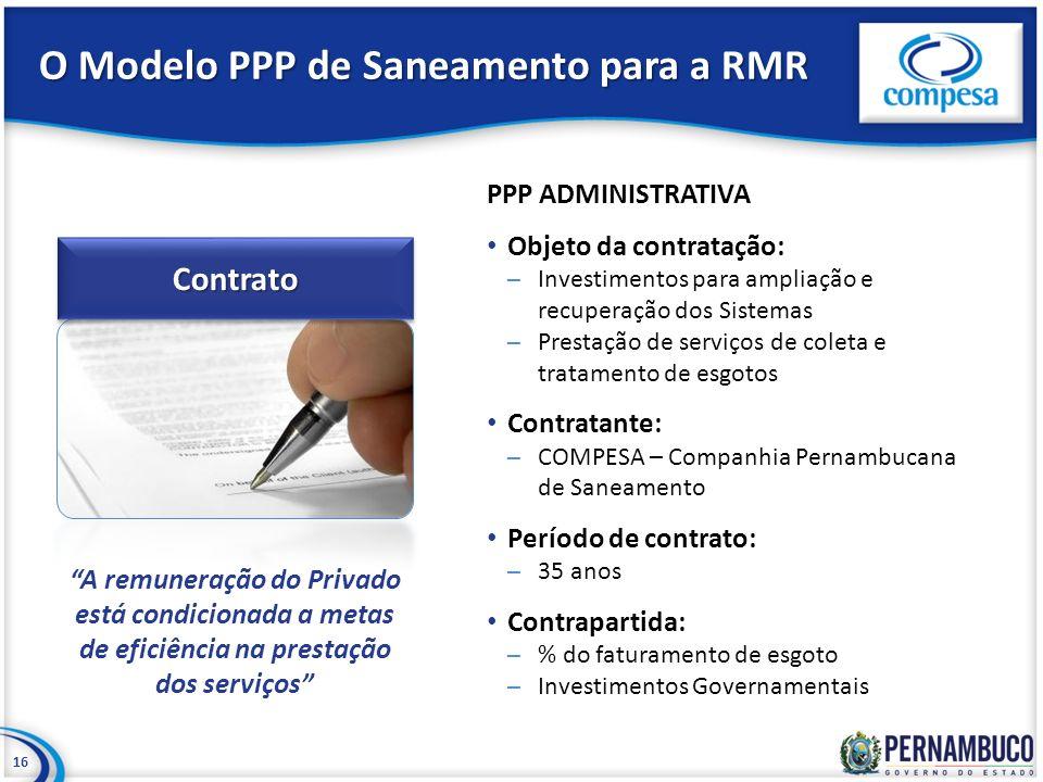 O Modelo PPP de Saneamento para a RMR