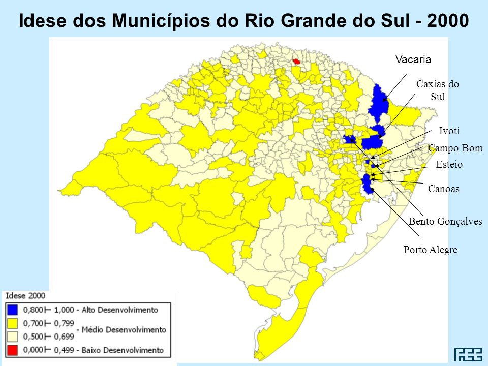 Idese dos Municípios do Rio Grande do Sul - 2000