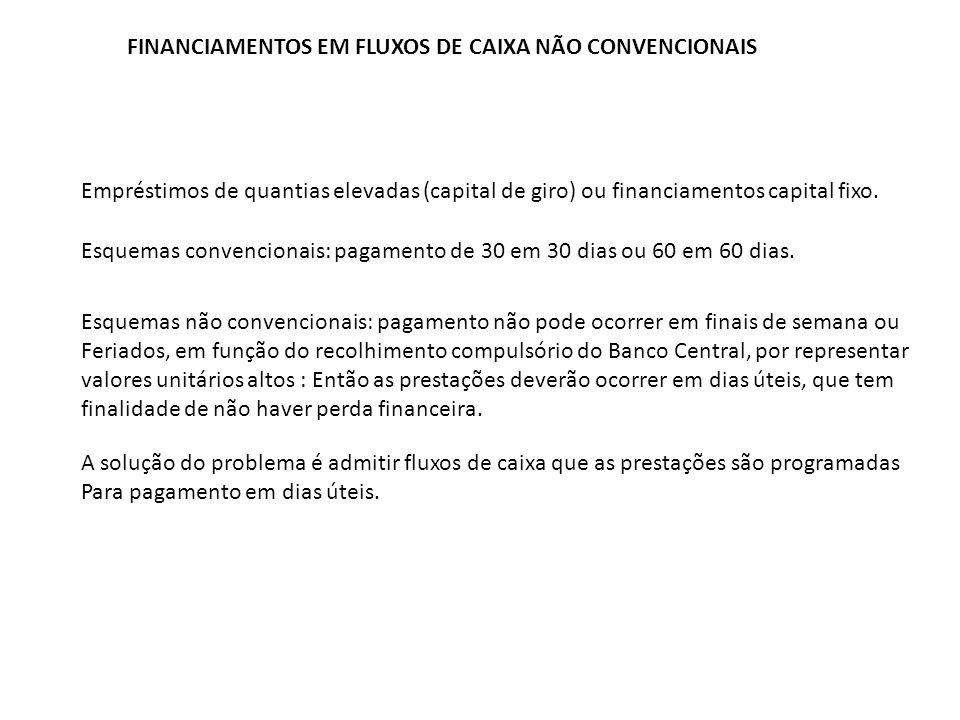 FINANCIAMENTOS EM FLUXOS DE CAIXA NÃO CONVENCIONAIS