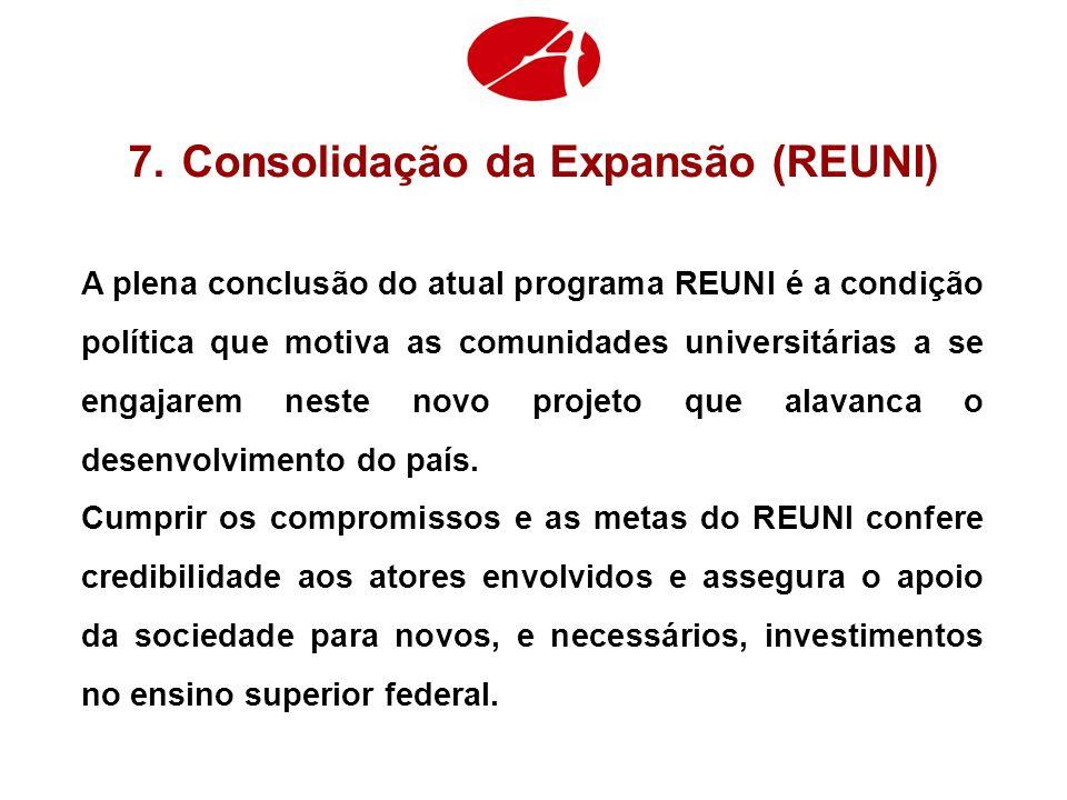 Consolidação da Expansão (REUNI)