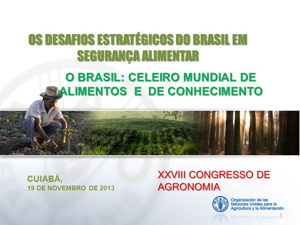 OS DESAFIOS ESTRATÉGICOS DO BRASIL EM SEGURANÇA ALIMENTAR
