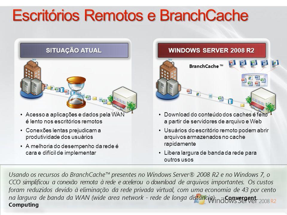 Escritórios Remotos e BranchCache