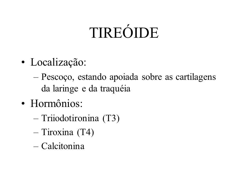 TIREÓIDE Localização: Hormônios: