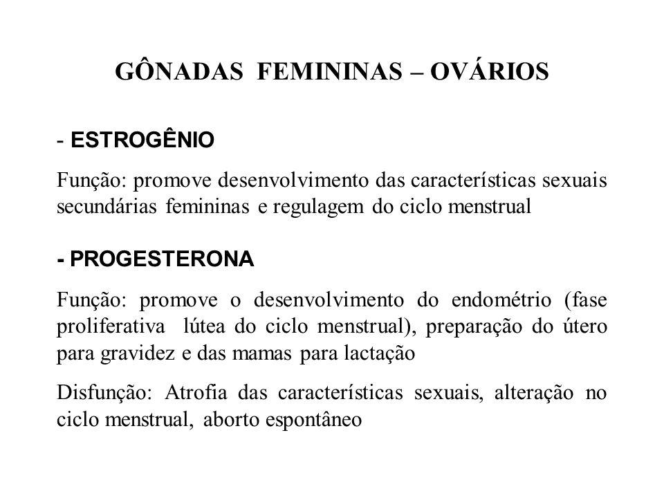 GÔNADAS FEMININAS – OVÁRIOS