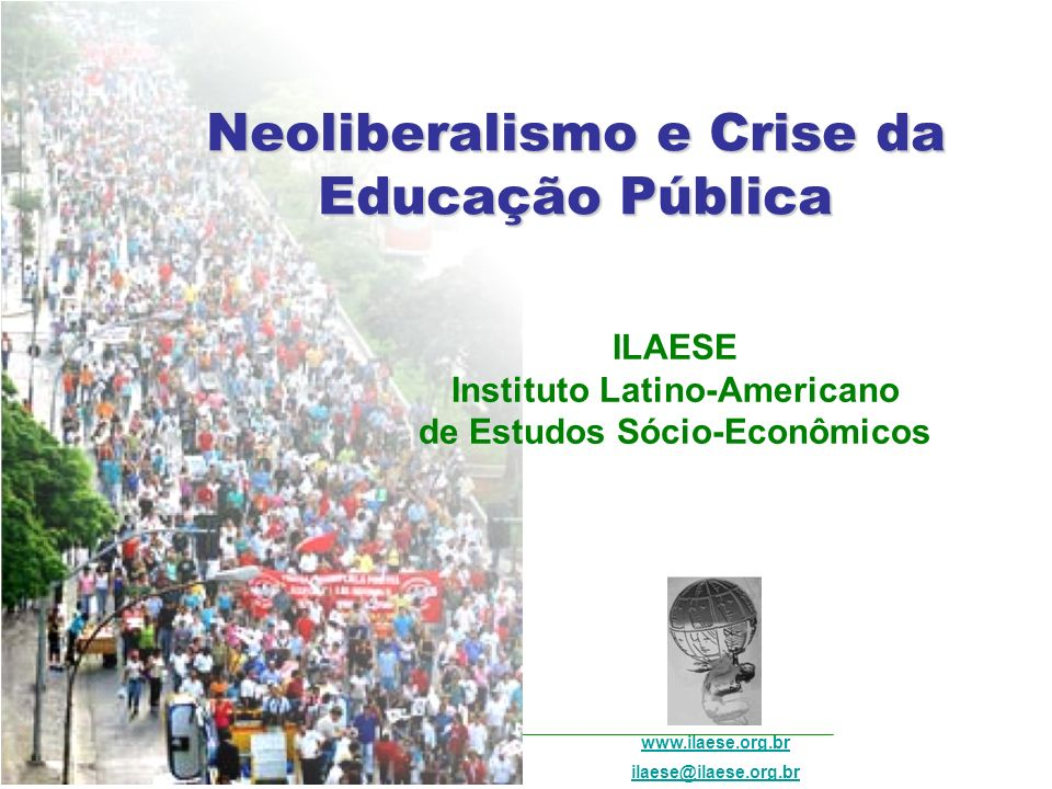Neoliberalismo e Crise da Educação Pública