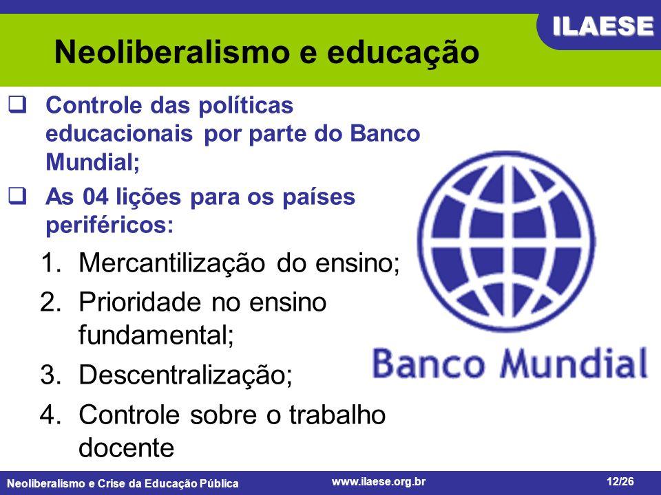 Neoliberalismo e educação