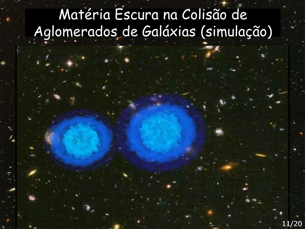 Matéria Escura na Colisão de Aglomerados de Galáxias (simulação)