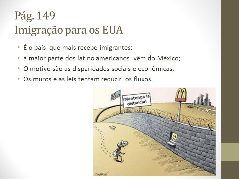 Pág. 149 Imigração para os EUA