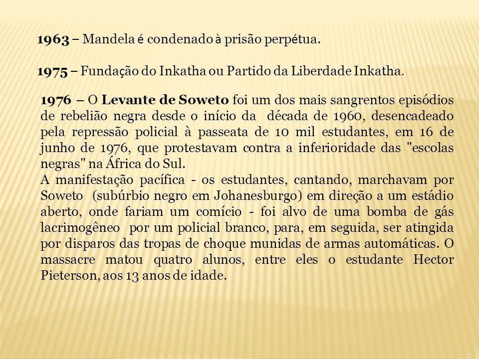 1963 – Mandela é condenado à prisão perpétua.