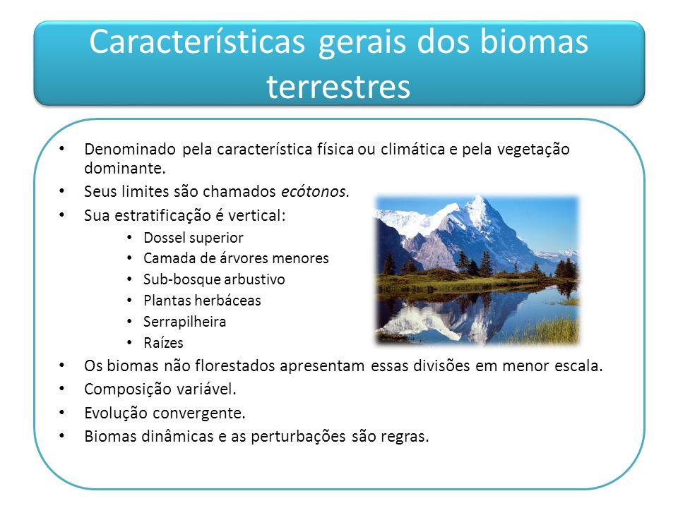 Características gerais dos biomas terrestres