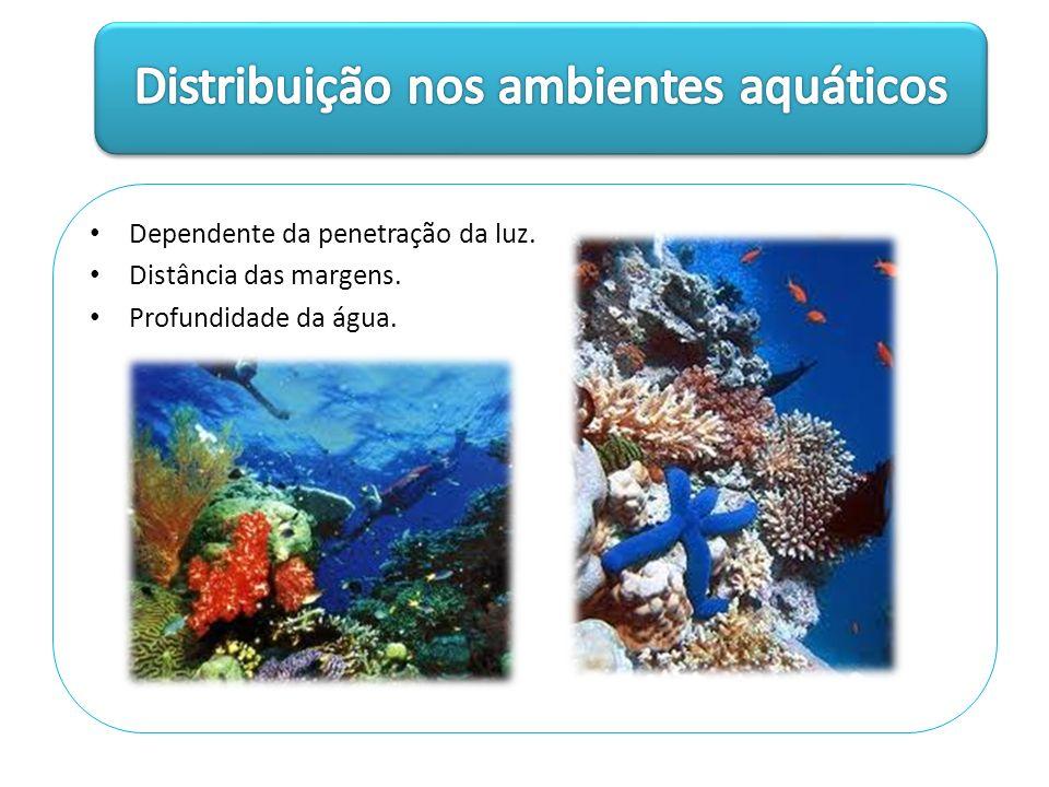 Distribuição nos ambientes aquáticos