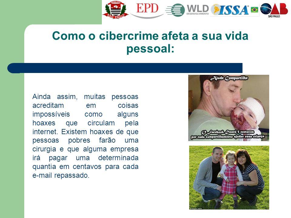 Como o cibercrime afeta a sua vida pessoal: