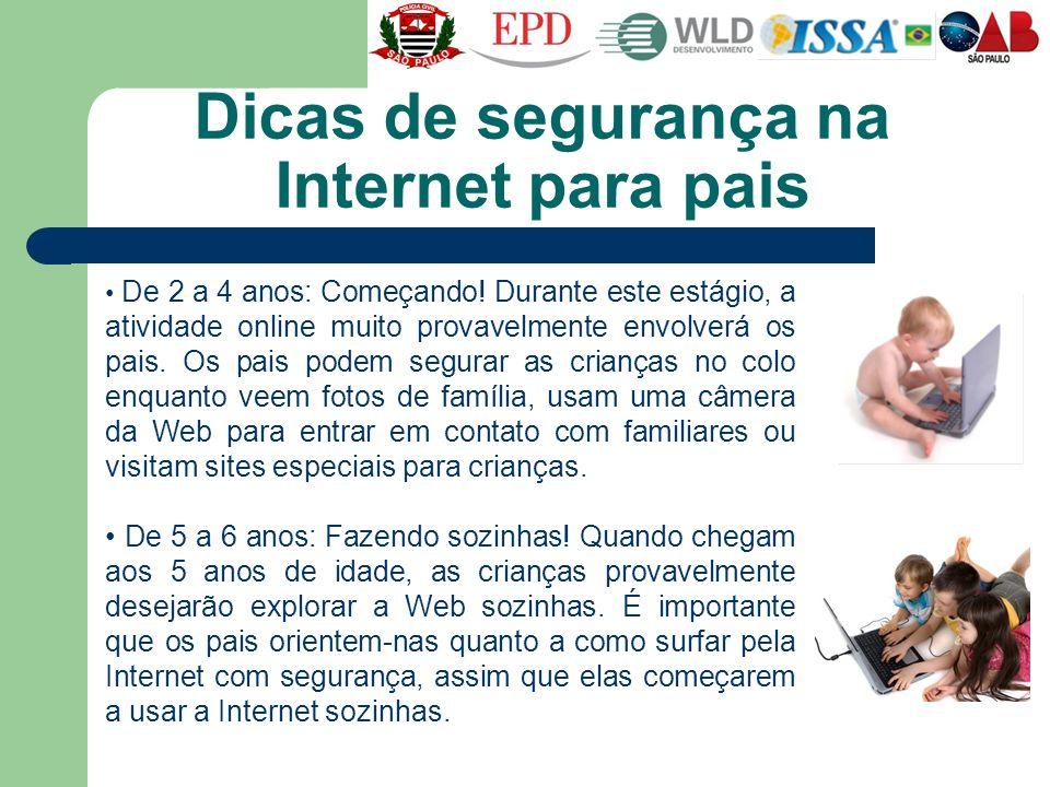 Dicas de segurança na Internet para pais