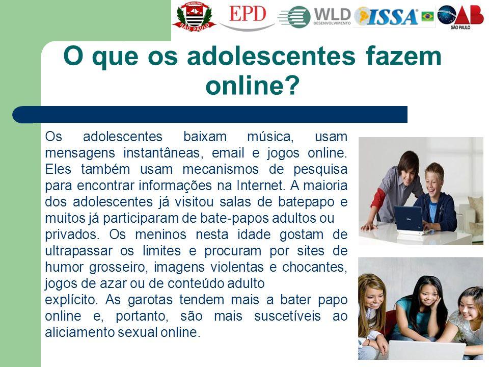 O que os adolescentes fazem online