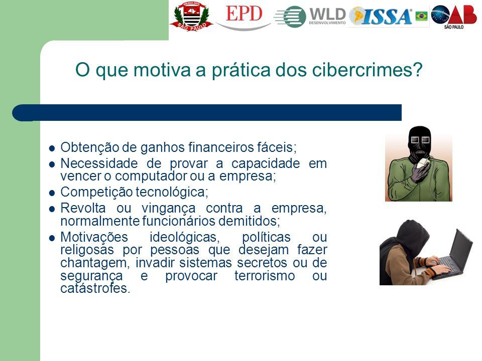 O que motiva a prática dos cibercrimes