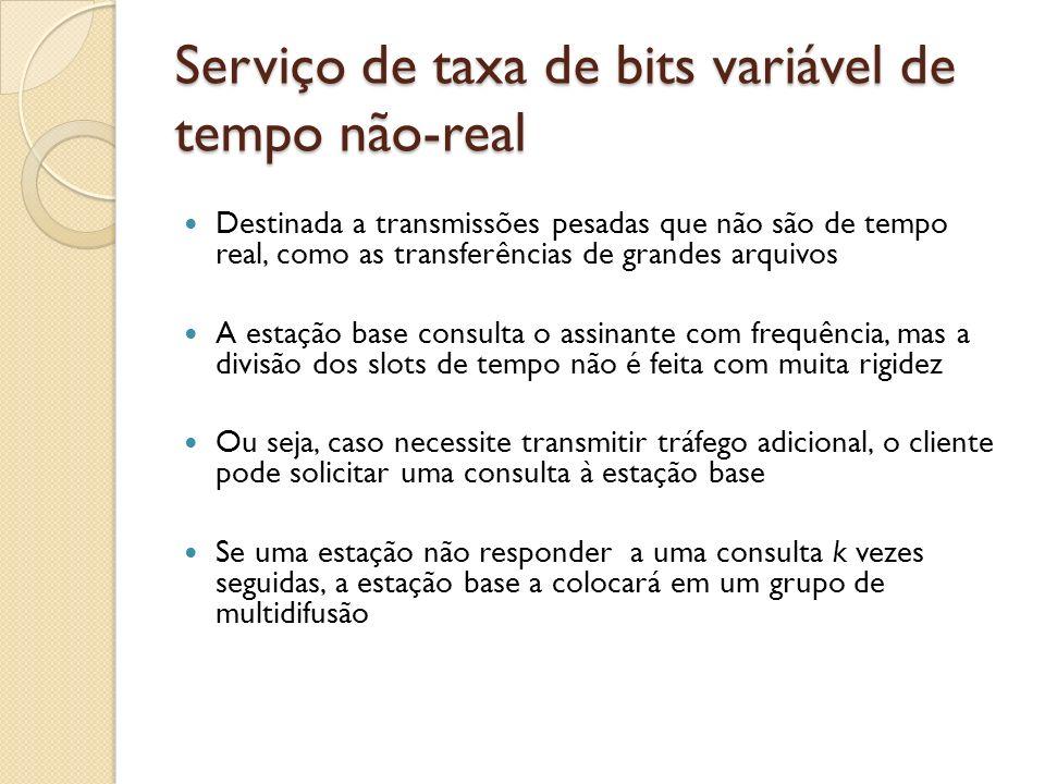 Serviço de taxa de bits variável de tempo não-real