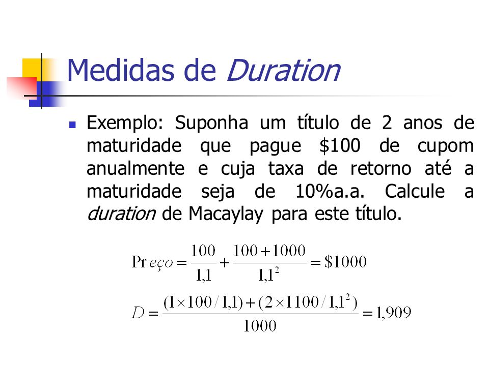 Medidas de Duration