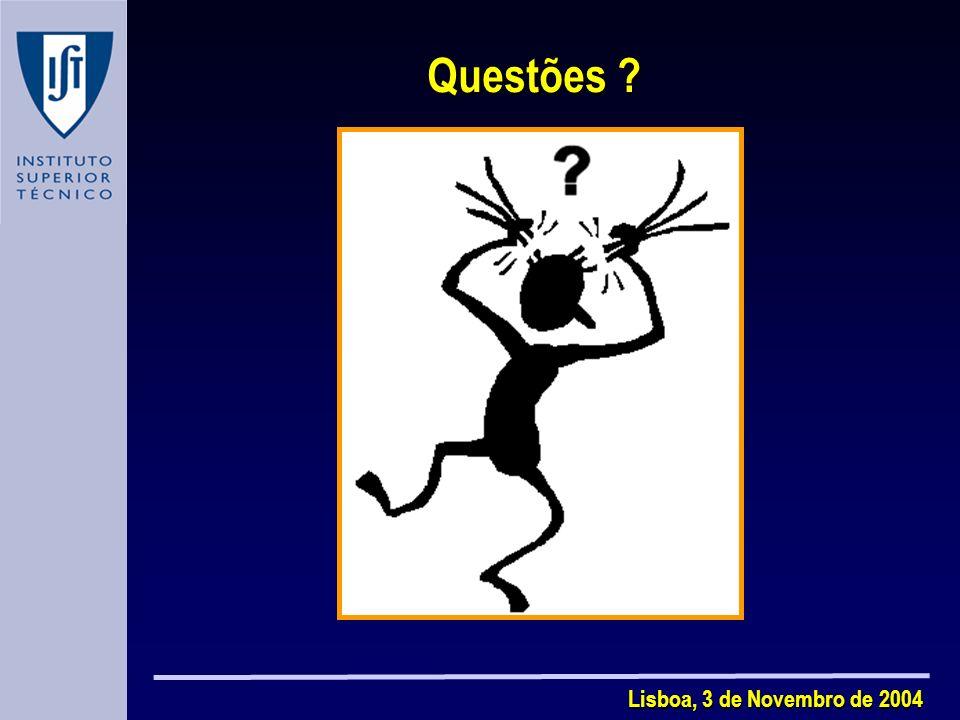 Questões Lisboa, 3 de Novembro de 2004