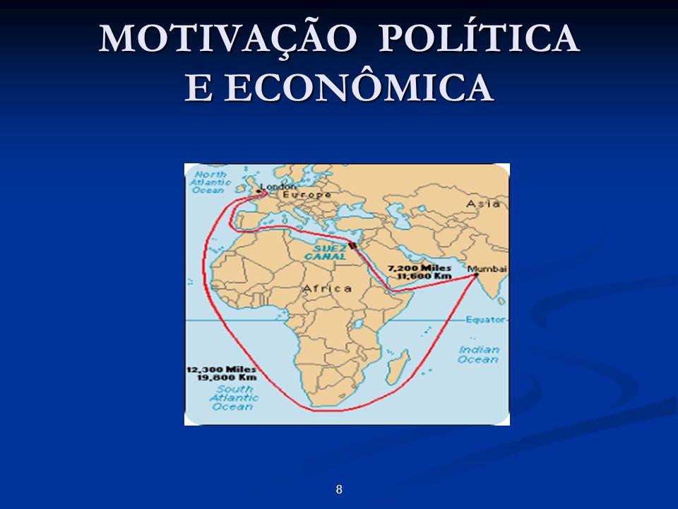 MOTIVAÇÃO POLÍTICA E ECONÔMICA