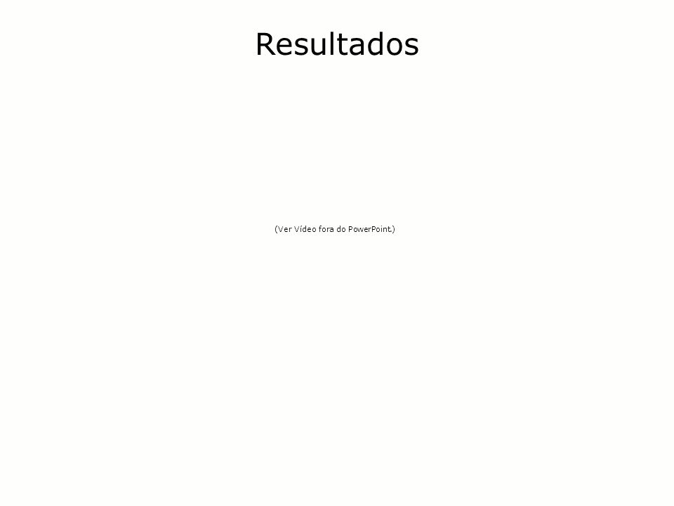 Resultados (Ver Vídeo fora do PowerPoint.)