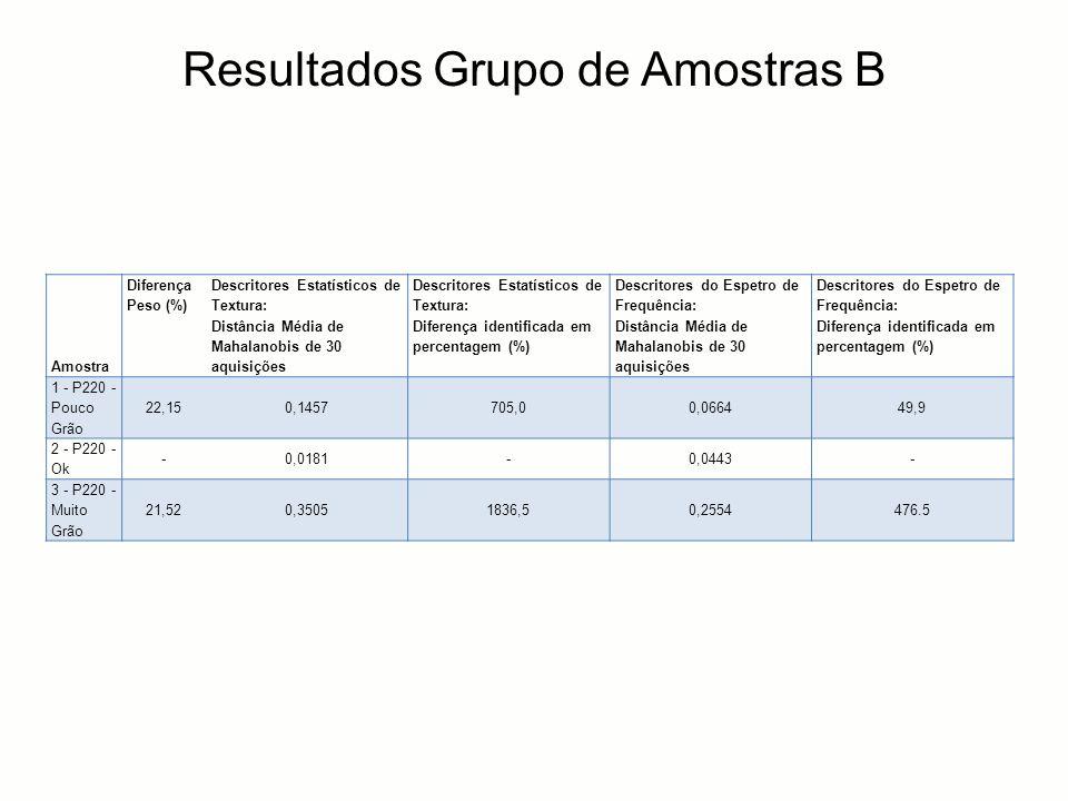 Resultados Grupo de Amostras B