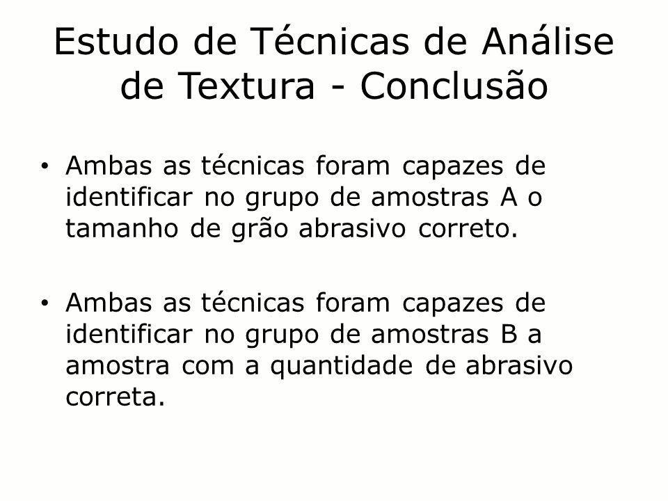 Estudo de Técnicas de Análise de Textura - Conclusão