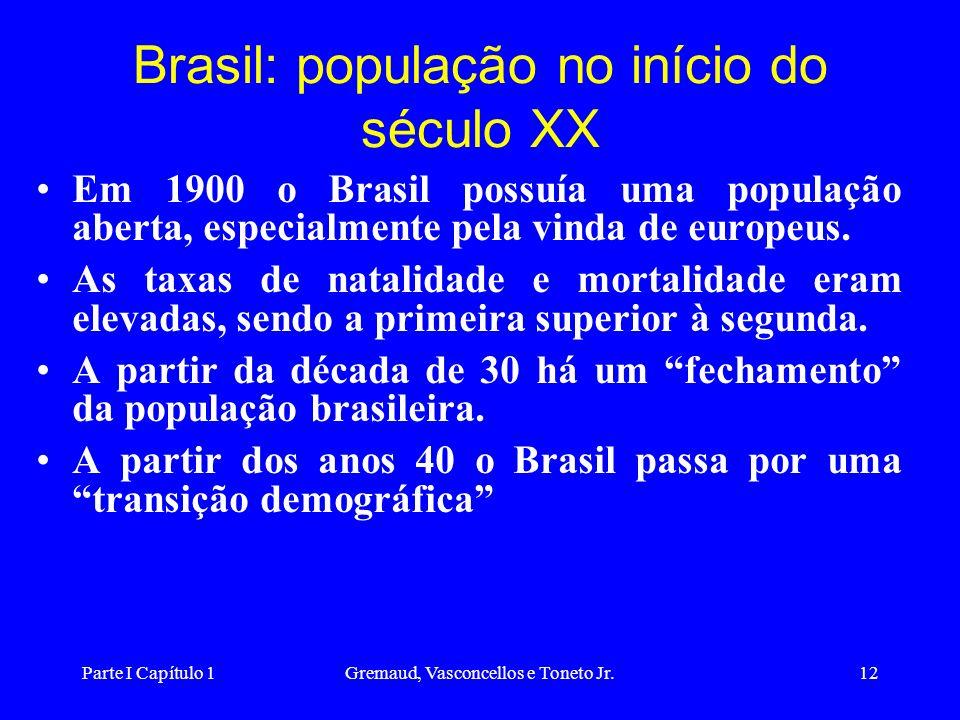Brasil: população no início do século XX