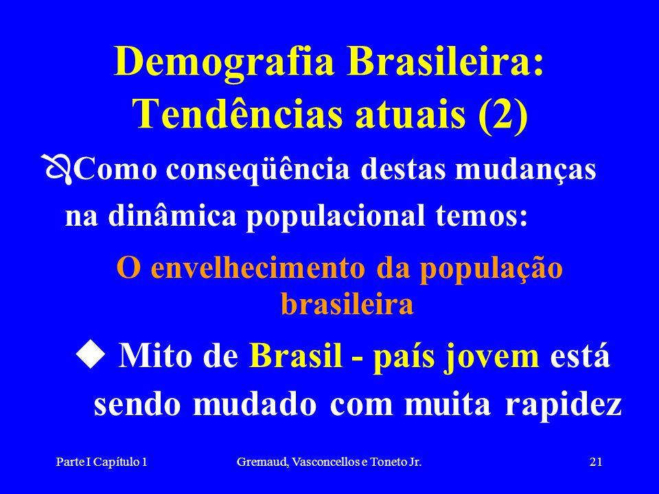 Demografia Brasileira: Tendências atuais (2)