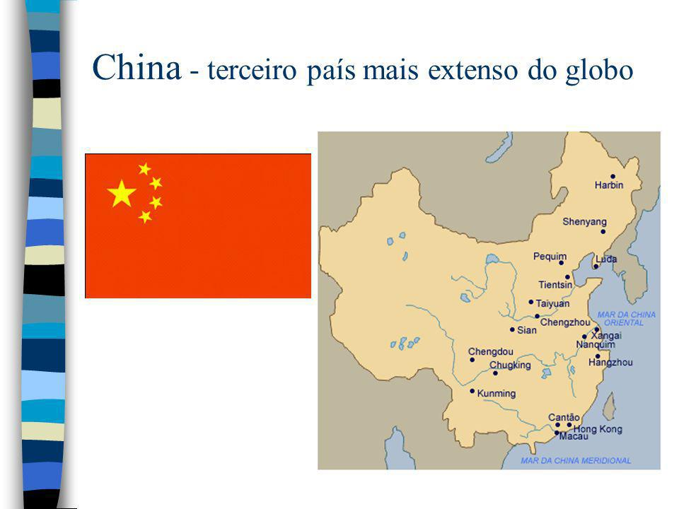 China - terceiro país mais extenso do globo